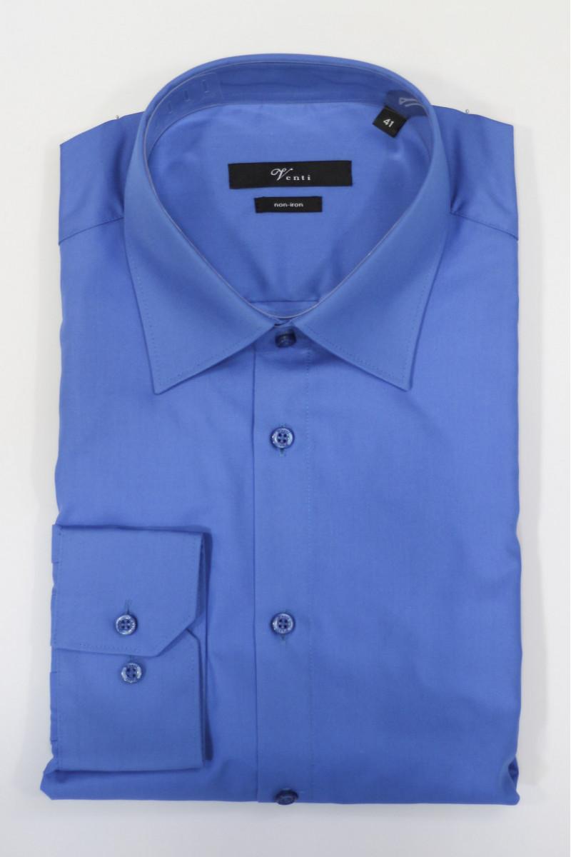 Голубая рубашка Venti c длинными рукавами