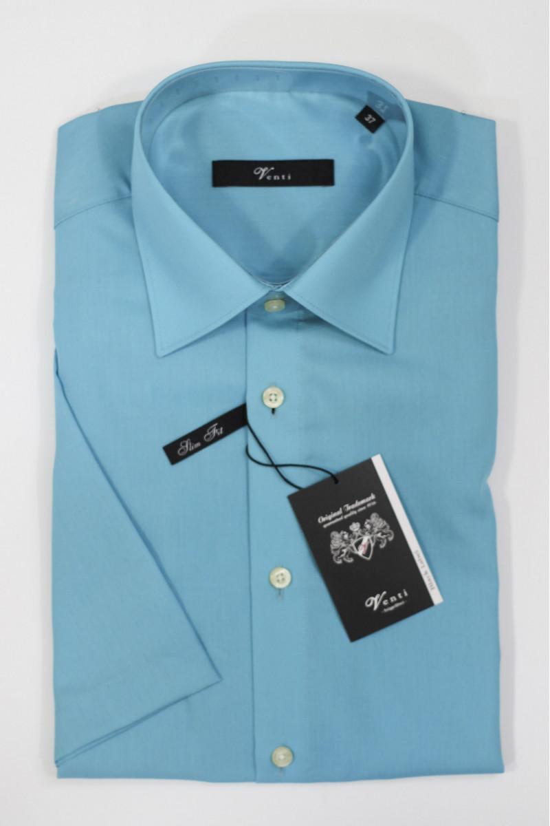 Светло-голубая рубашка Venti с короткими рукавами