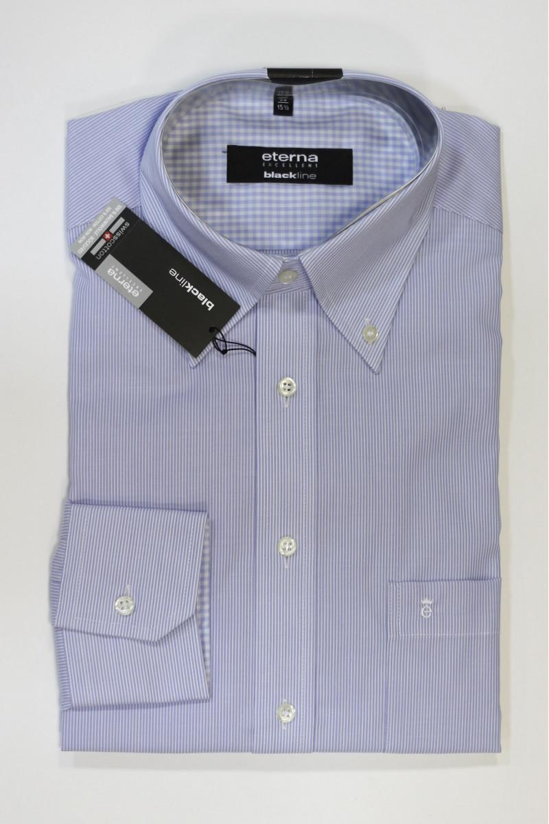 Голубая рубашка в полоску Eterna