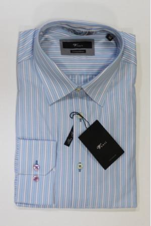 Голубая рубашка с длинными рукавами и в белую полоску Venti