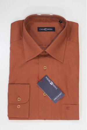 Темно-оранжевая рубашка Casa Moda