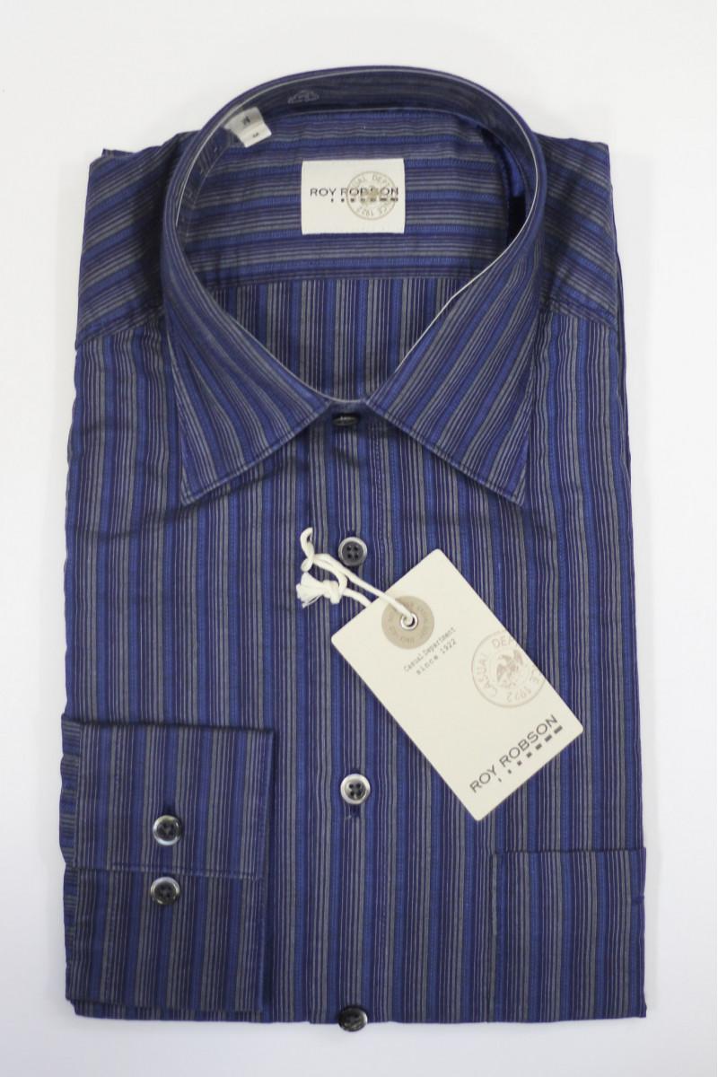 Темно-синяя рубашка в полоску Roy Robson