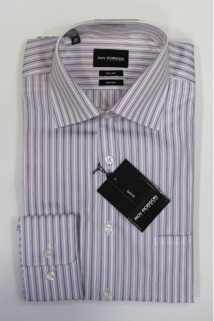 Белая рубашка в розовую полоску Roy Robson