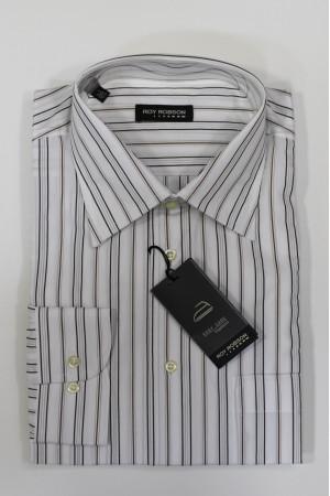 Белая рубашка в разноцветную полоску Roy Robson