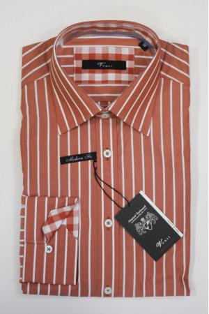 Красная рубашка с длинными рукавами и в белую полоску Venti
