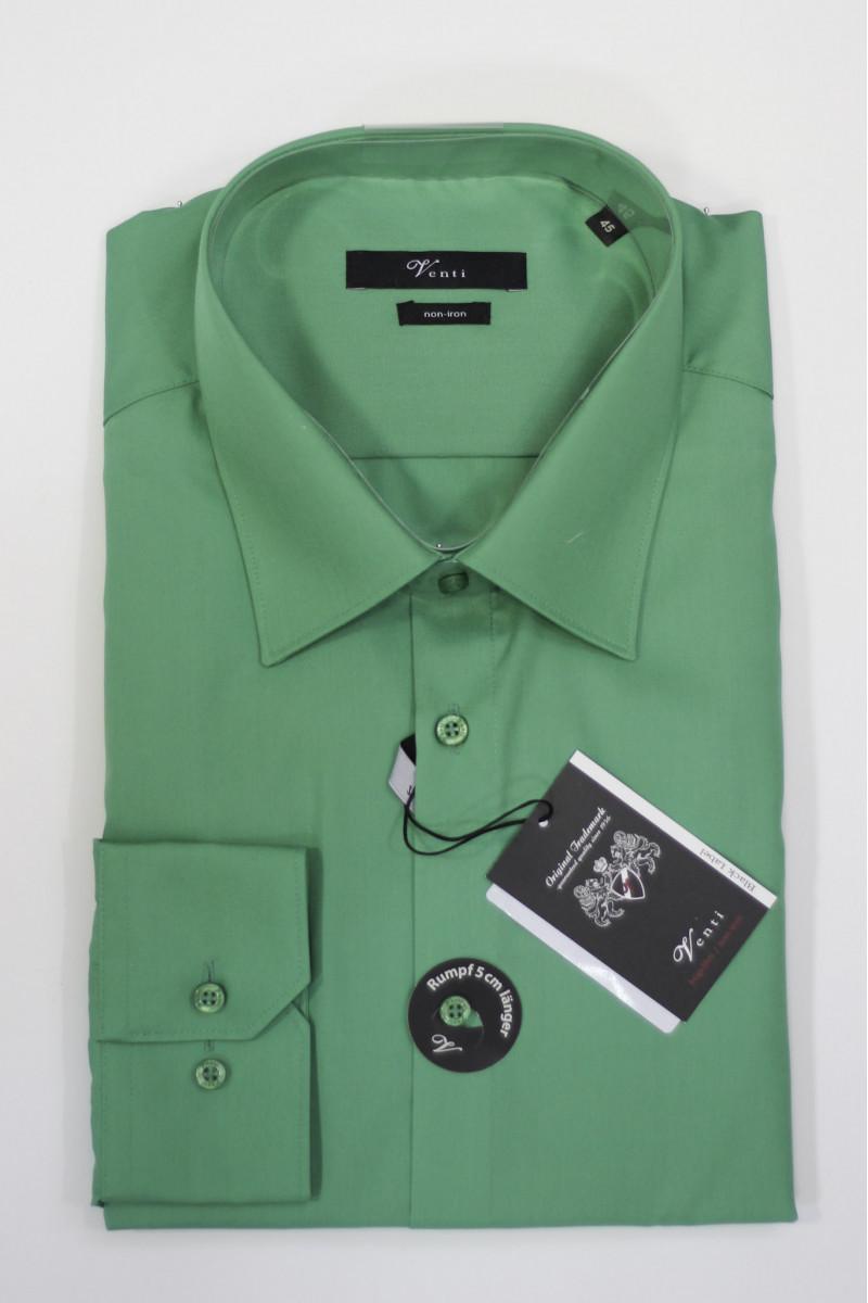 Зеленая рубашка Venti с удлиненными рукавами