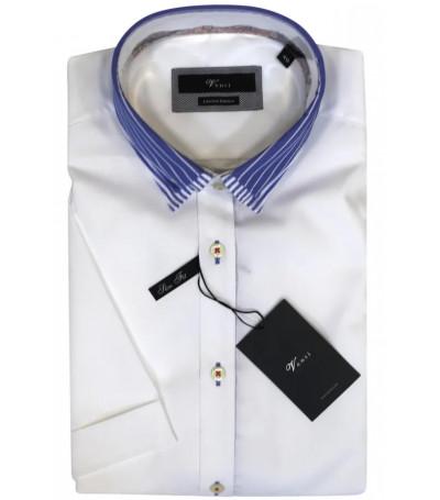 Белая рубашка с синим воротником Venti