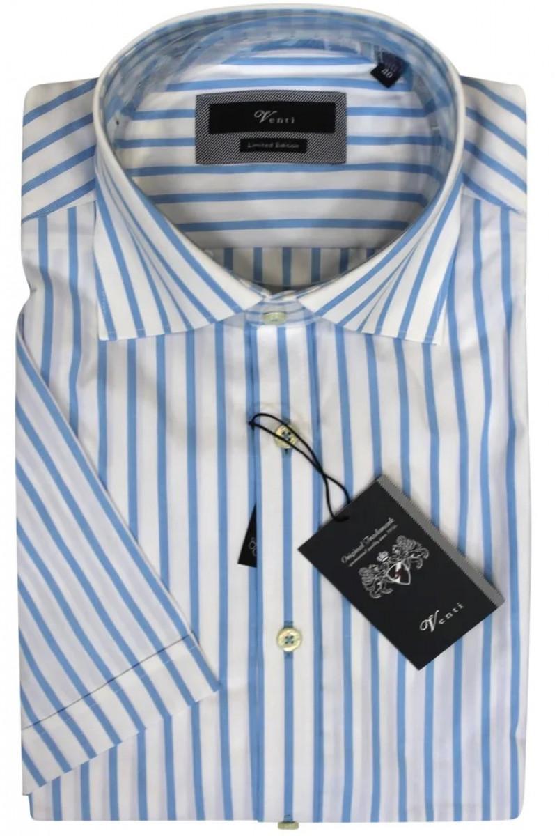Белая рубашка в голубую полоску Venti