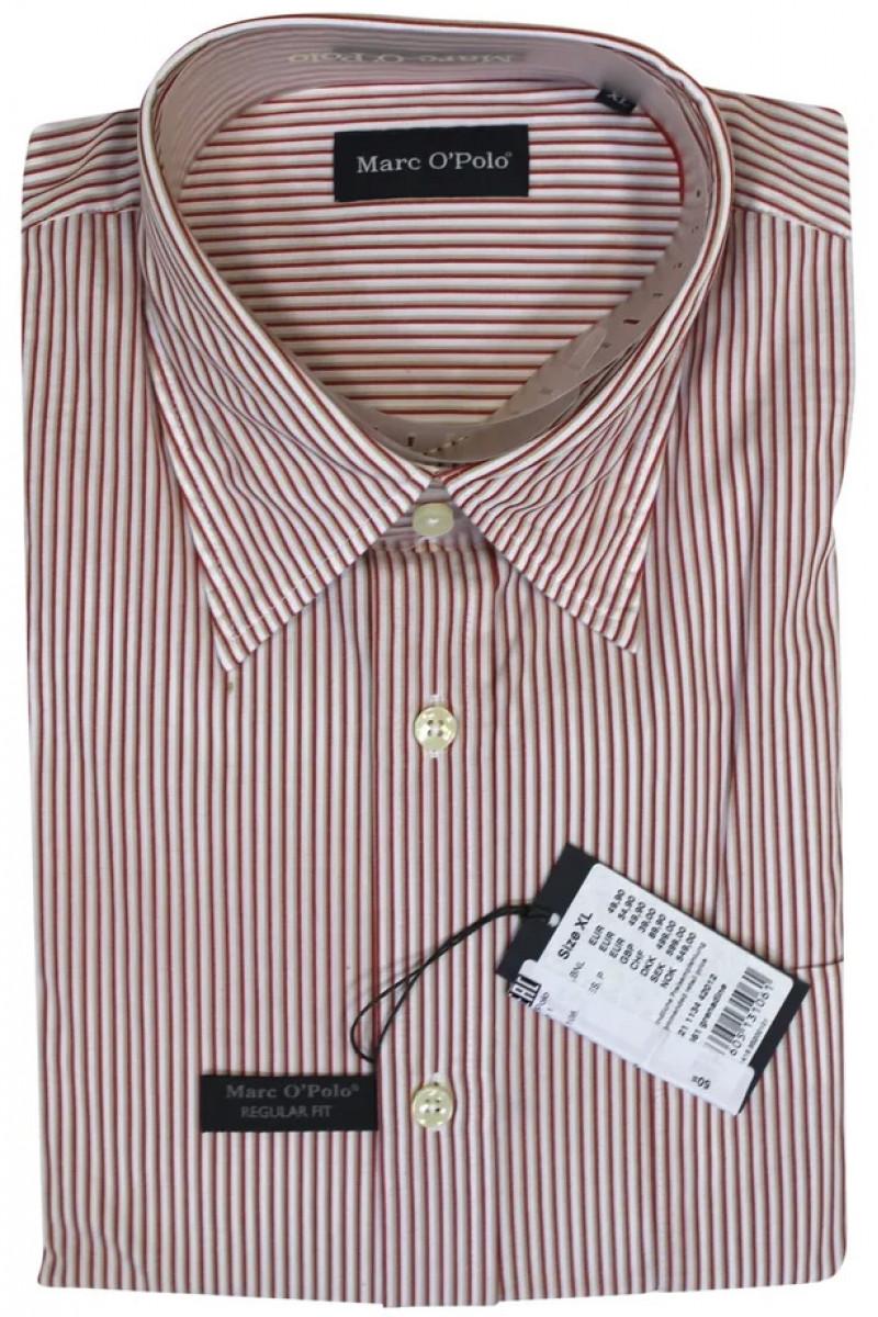 Белая рубашка в красную полоску Marc O'Polo