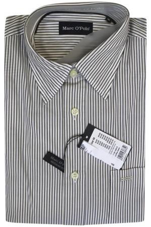 Белая рубашка в зеленую полоску Marc O'Polo
