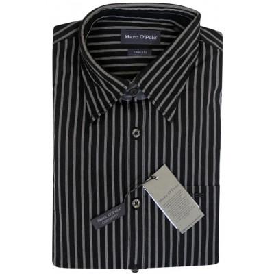 Черная рубашка в серую клетку Marc O'Polo