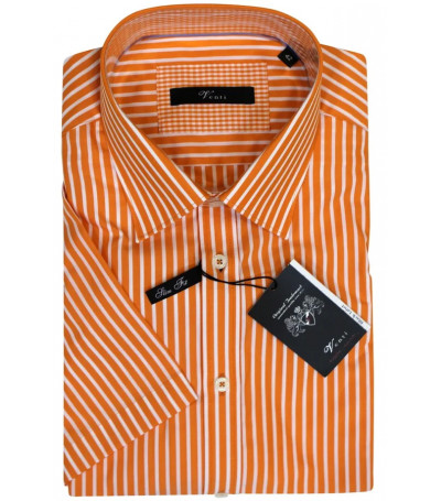 Оранжевая рубашка в белую полоску Venti