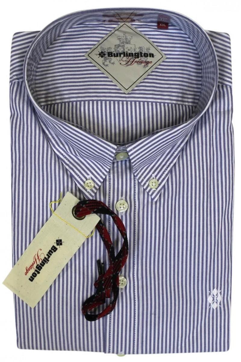 Рубашка в бело-фиолетовую полоску Burlington