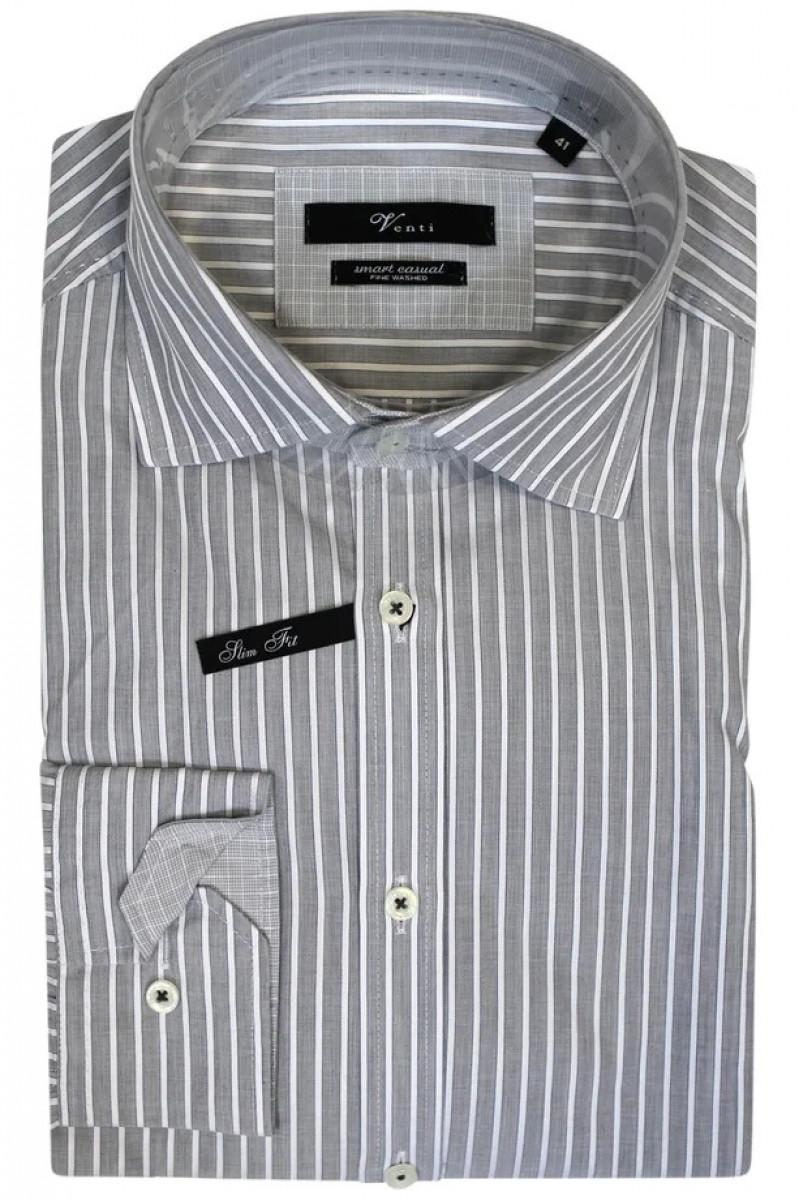 Серая рубашка в белую полоску Venti