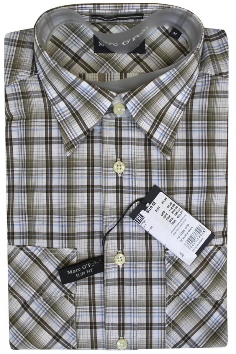 Светлая рубашка в клетку Marc O'Polo