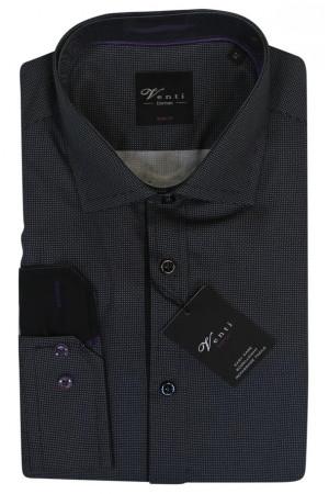 Темно-серая рубашка Venti с длинными рукавами