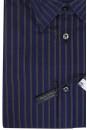 Темно-синяя рубашка в коричневую полоску Marc O'Polo