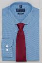 Рубашка NON IRON с микро орнаментом SHL-1514 BLUE